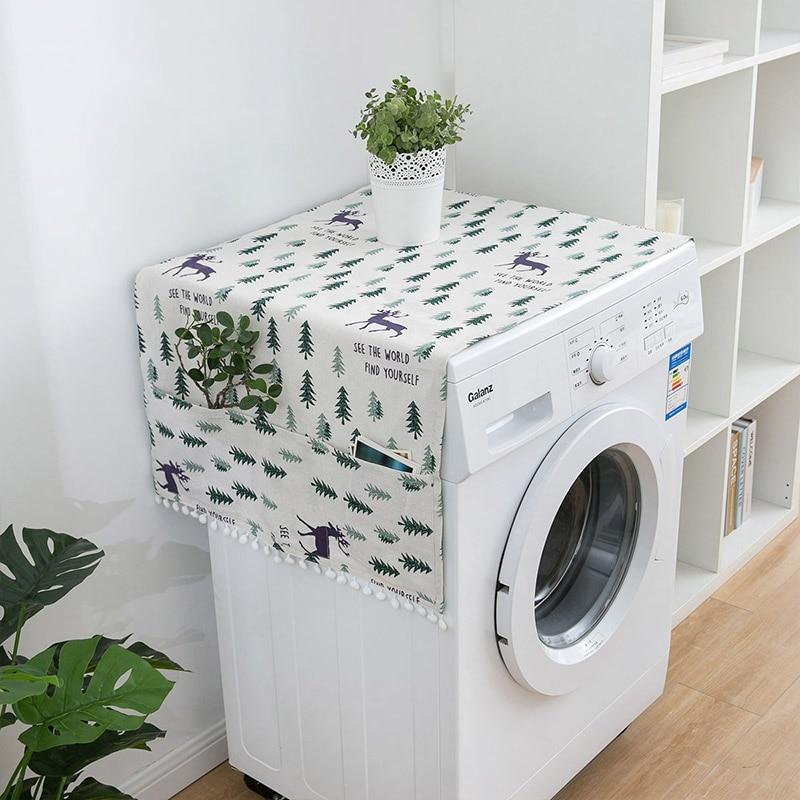Геометрическая стиральная машина Пылезащитная Крышка для кухонного холодильника пылезащитные чехлы с сумкой для хранения чистящие аксессуары чехол - Цвет: E