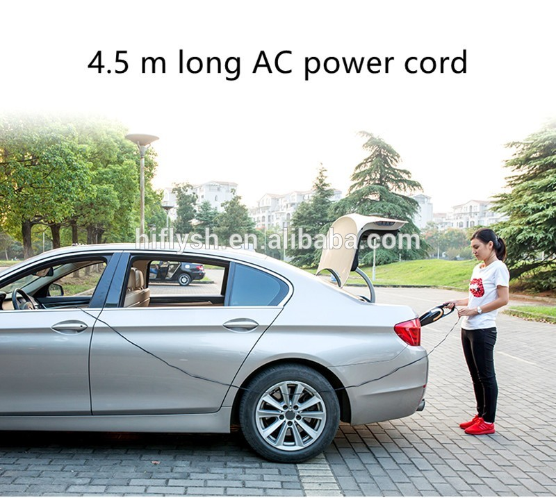 Купить с кэшбэком 4.5M 4800pa 12V Car Vacuum Cleaner Super Suction Wet And Dry Dual Use Vaccum Cleaner For Car