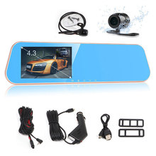 Original Dual Dashcam Car Camera DVRs Video Recorder Car DVR Camcorder With Rear View Camera Car Charger Front 170degree styling