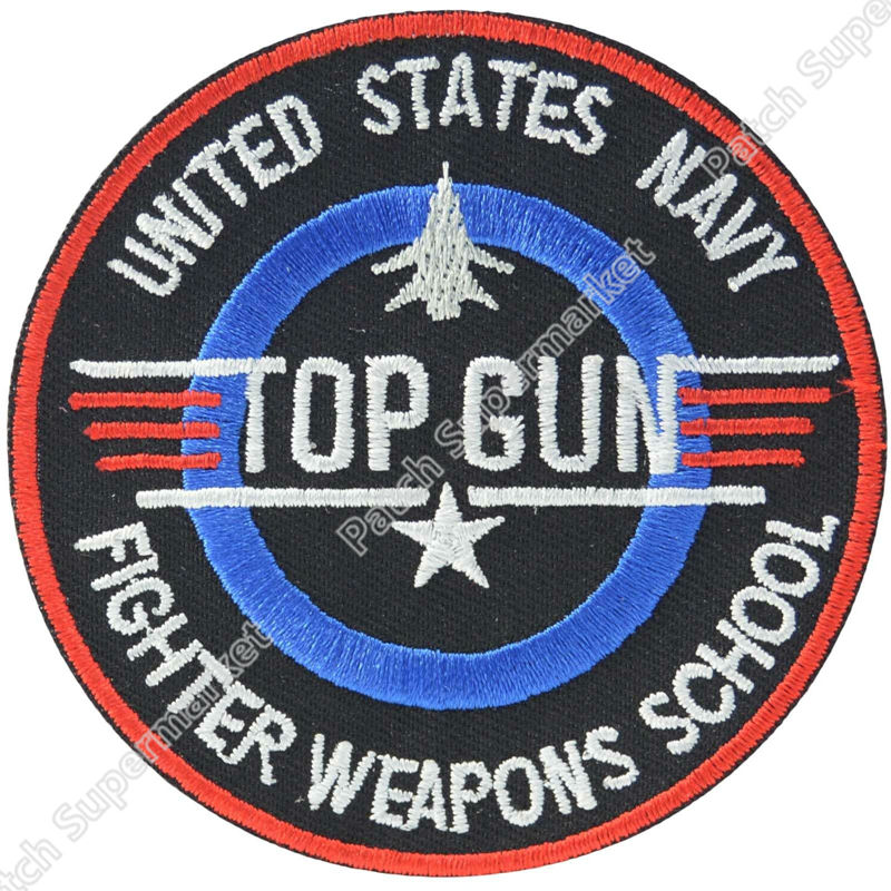 3 TOP GUN Quality Embroidered Patch Insignia Tom Cruise TV Movie Film series Cosplay Logo Costume