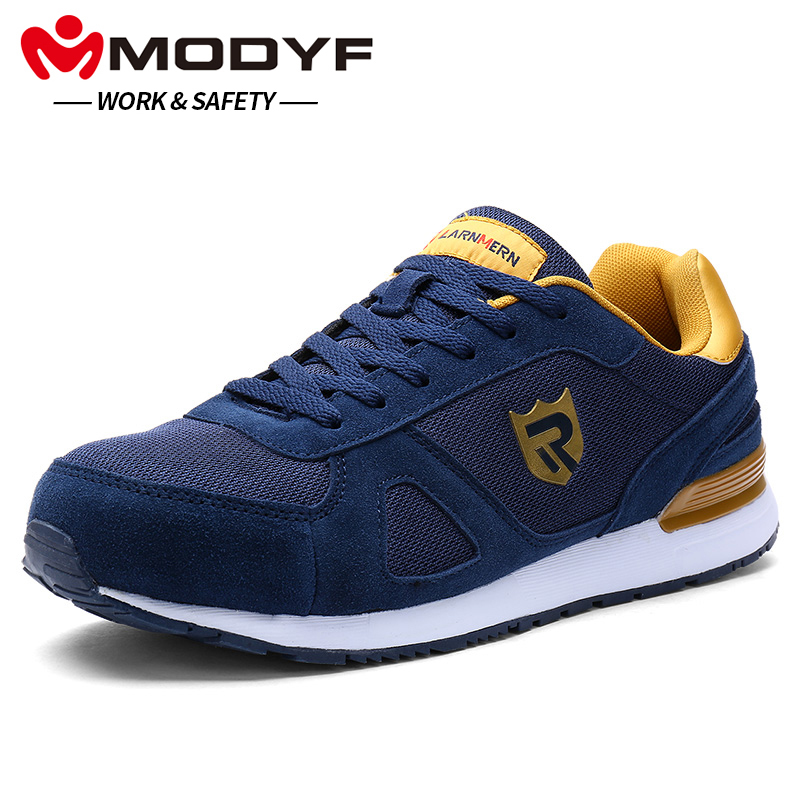 MODYF Men's Safety shoes Work Steel Toe Caps Boots Casual Skateboard Sneaker Ankle Protective Footwear