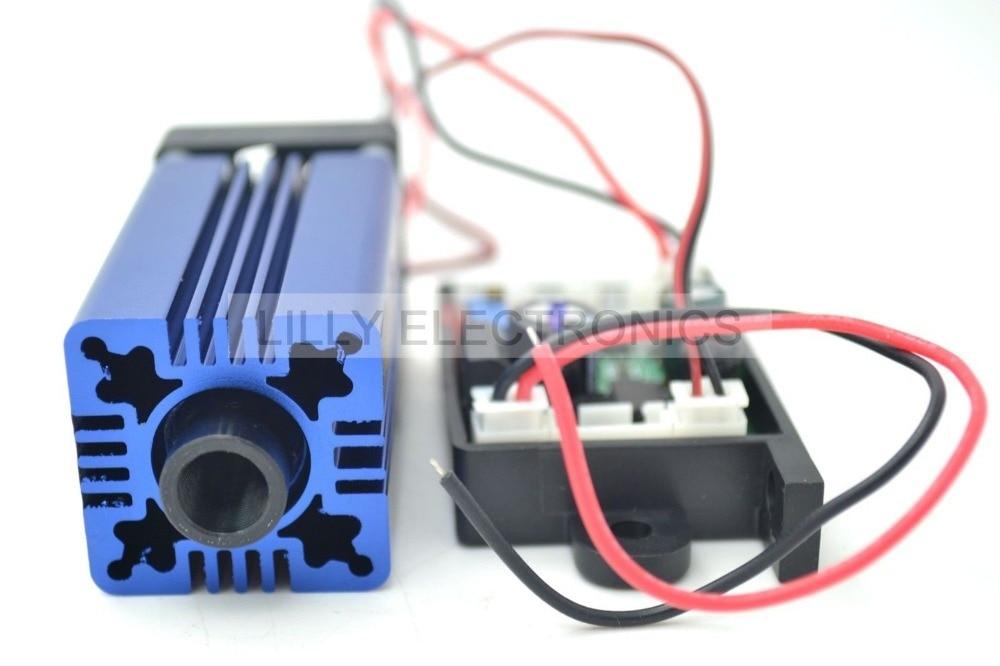 цена на 405nm 400mW Violet/Purple Laser Dot Module 12V+ TTL+ Fan Cooling- Working Long