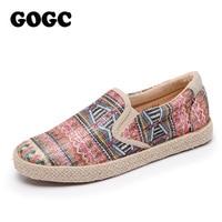 GOGC 2018 New Style Fashion Casual Shoes Women Slipony Comfortable Breathable Women Sneakers Female Footwear Flat
