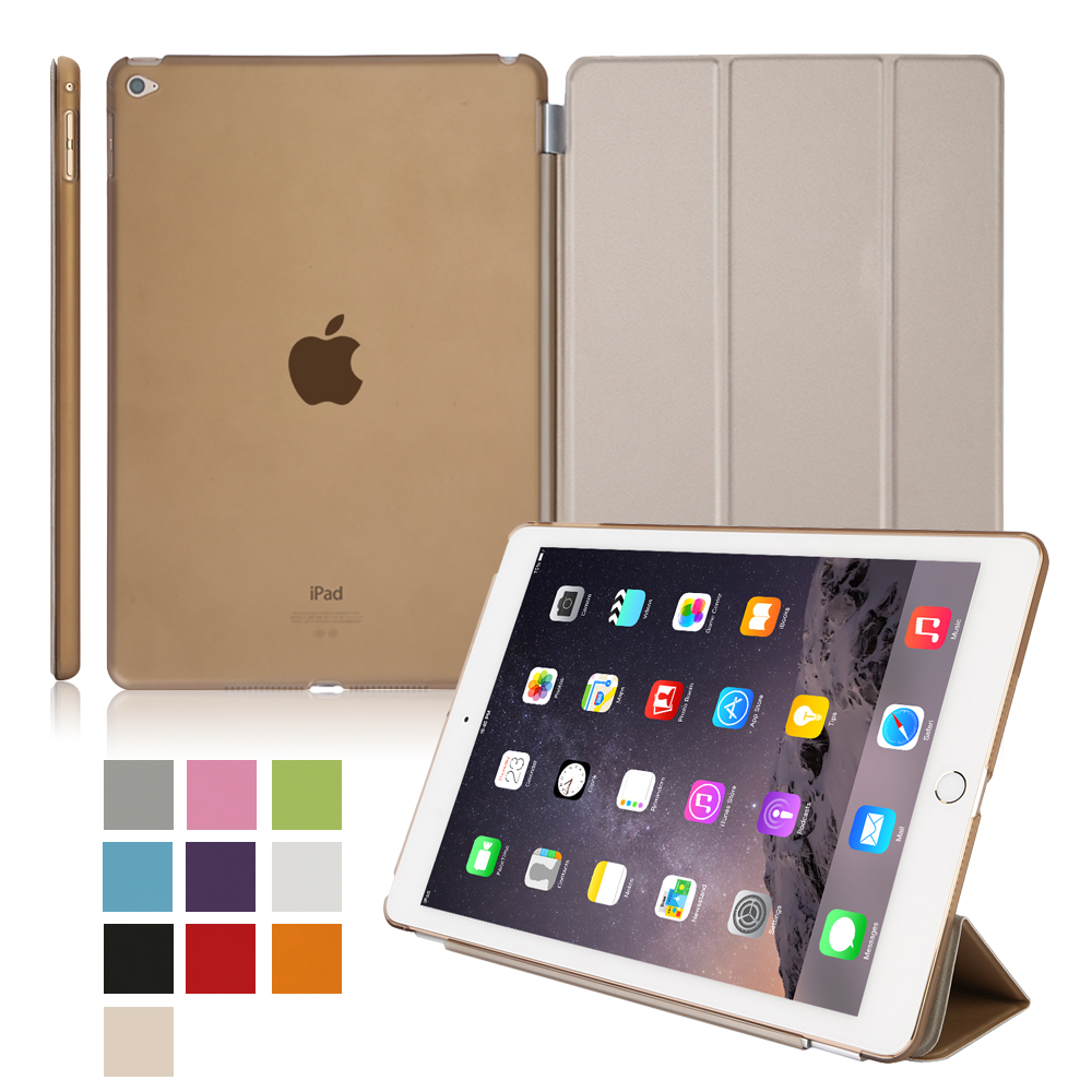 smart cover for apple ipad air 2 case original imitate leather protect shell cover film. Black Bedroom Furniture Sets. Home Design Ideas