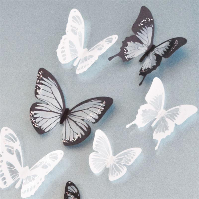 Online Get Cheap Wall Butterflys Aliexpresscom Alibaba Group - Butterfly wall decals 3dpvc d diy butterfly wall stickers home decor poster for kitchen