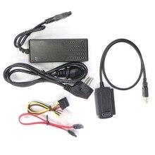 1 комплект USB 2,0 для IDE/SATA S-ATA 2,5 «3,5» HD HDD жесткий диск адаптер конвертер Мощность кабеля ОТБ США ЕС Plug-and-play