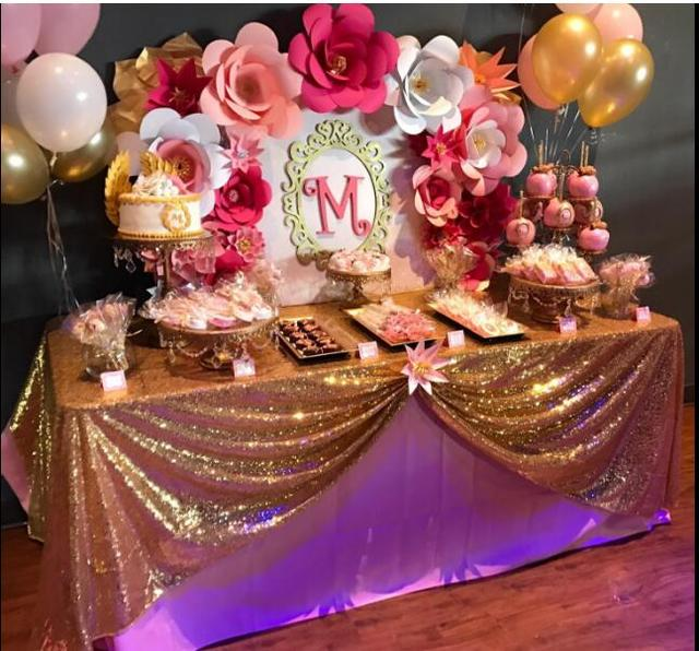 Whoelsale Glitter Gold Sequin Tablecloth 60x102 Inch Table
