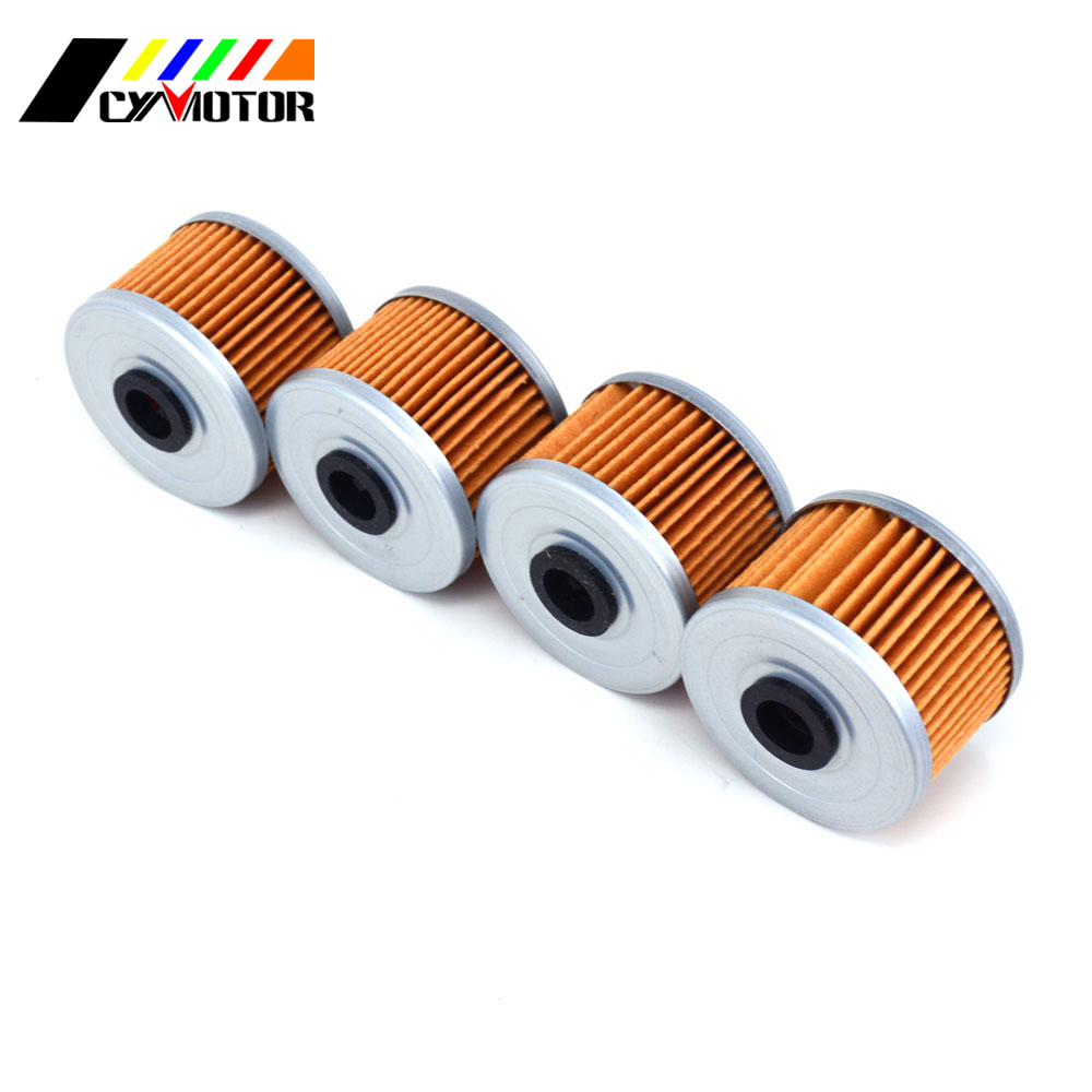 Motorcycle 4pcs Engine Oil Filter Machine Filter For HONDA AX1 CRF NX TLR XL XL-Z XR <font><b>ATC</b></font> TRX 250 300 350 <font><b>400</b></font> 440 500 600 650 700 image