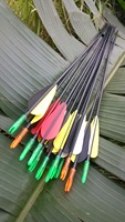 18 or 25PCS 80cm DIA 6mm Fiberglass Arrow Steel Arrowhead FRP Fletched hunter Archery Practice for Hunting