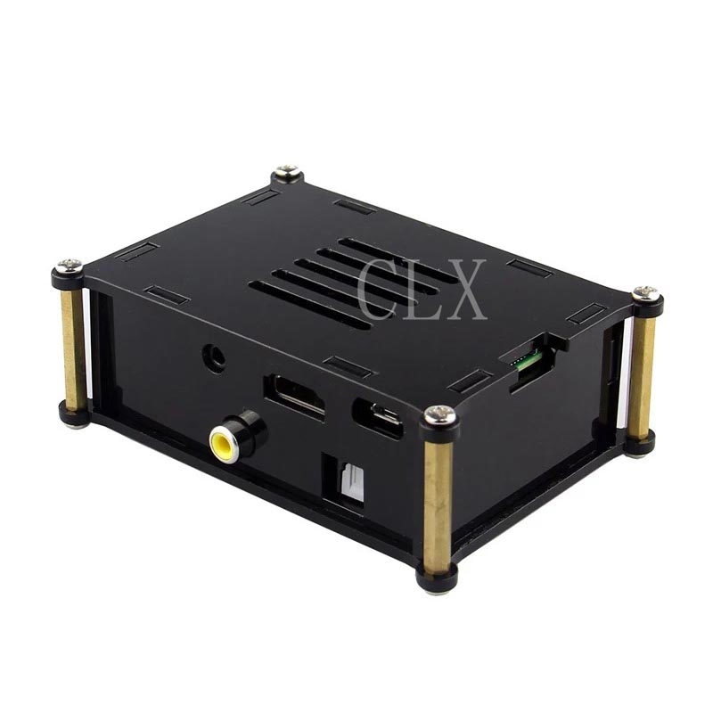 HIFI DiGi Expansion Board Case Raspberry Pi Digital Sound Card Acrylic Box For I2S SPDIF Module With Raspberry Pi 3/2