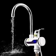 Абс светодио дный цифровой дисплей кран мгновенный нагрев Электрический водонагреватель кран высокая термостойкость кран на бортике кран