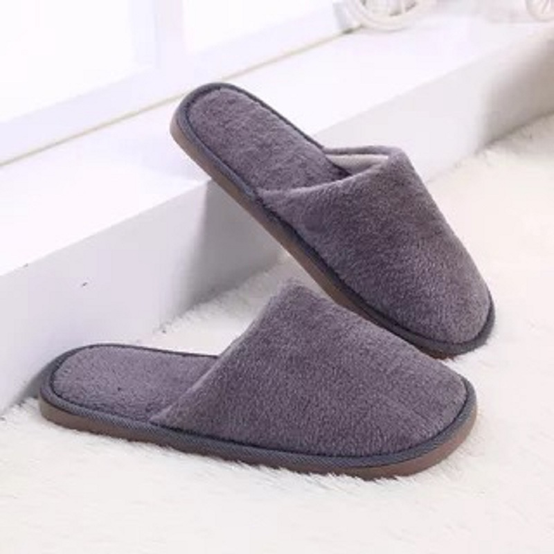 a8e9418ae 2018 Fashion Plush Men Winter Home Slippers Indoor Bedroom Loves ...