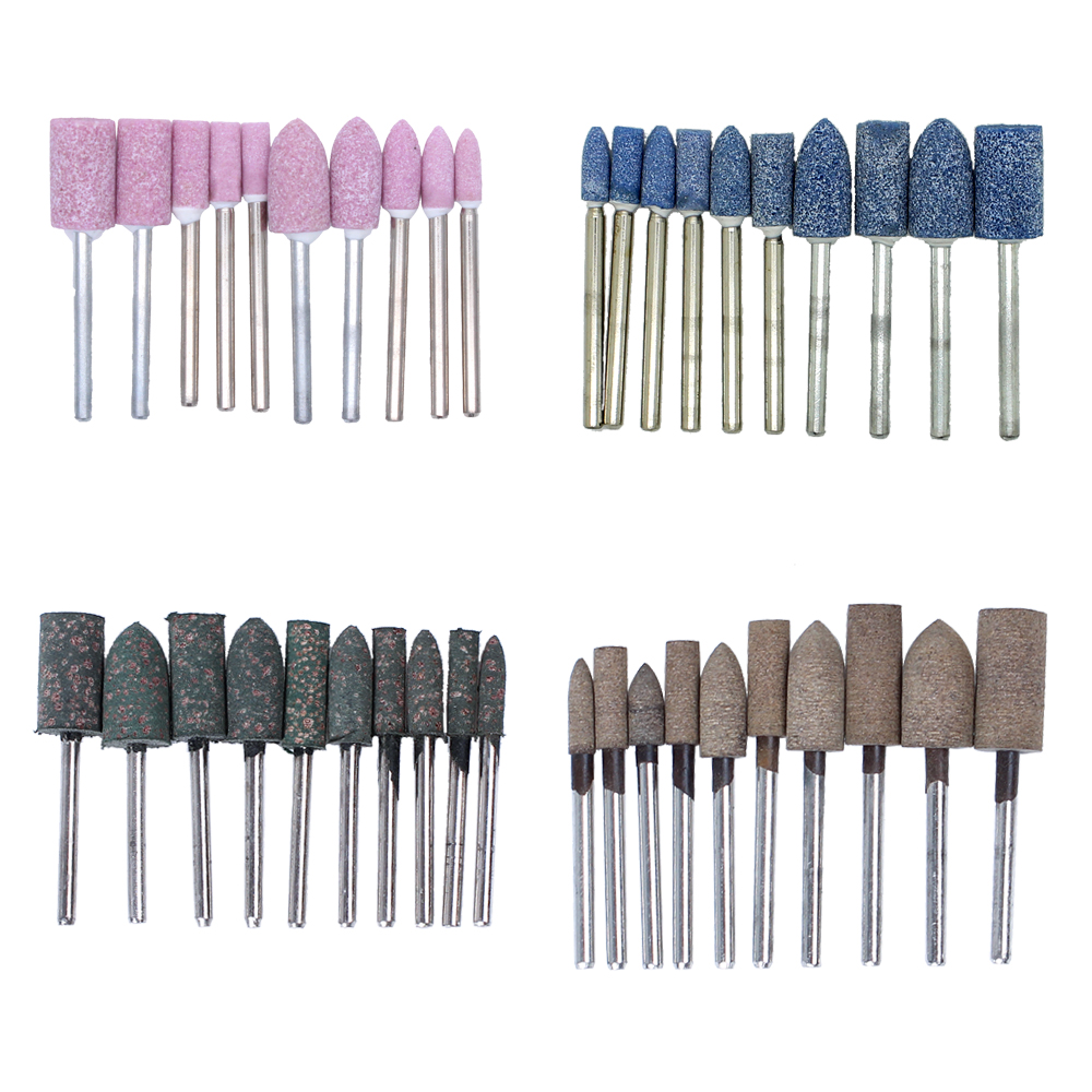 10PC PINK MOUNTED GRINDING STONE FOR DREMEL ROTARY TOOLS CHAINSAW SHARPENING 4MM