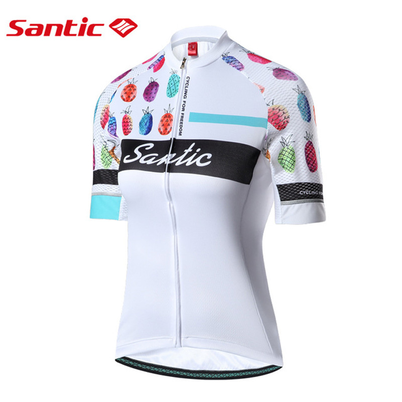 Santic Cycling Jerseys for Female MTB Bicycle Shirt Quick Dry Anti-Wrinkle Sportwear Motocross Jerseys 2018 Pro Team DH Clothing live team cycling jerseys suit a001