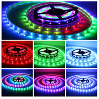5M WS2801 2801 LED Strip 30LEDs M RGB Waterproof Individually Addressable Full Color WS2801 Chip IP67