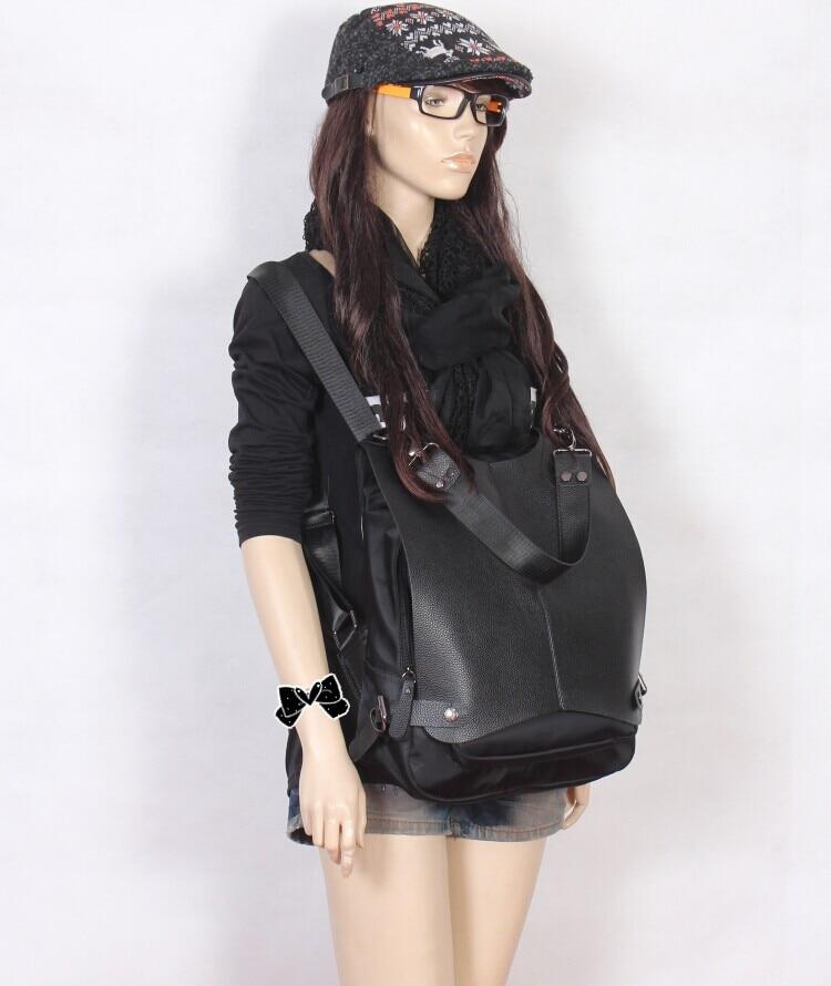 561252829 Impermeável mochila de nylon saco com duplo feminino Coreano lazer bolsa de  viagem personalidade nova moda Mochila multifuncional