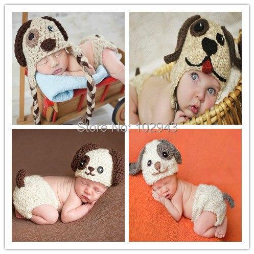 Bebé sombrero del perrito LUV bebé recién nacido del ganchillo ...
