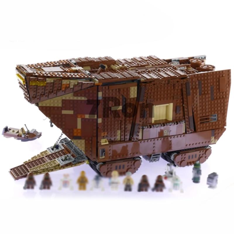 05038 3346Pcs Star Series Wars Force Awakens Sandcrawler Model Building toys hobbies Kit Blocks Brick Compatible with lego 75059 lepin 05038 star wars episode iv sandcrawler similar with 75059 buliding kit