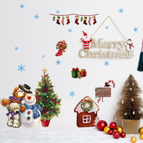 60cm x 45 merry christmas wal sticker for living room decoration declas window home diy wall decal in wall stickers from home garden on aliexpresscom