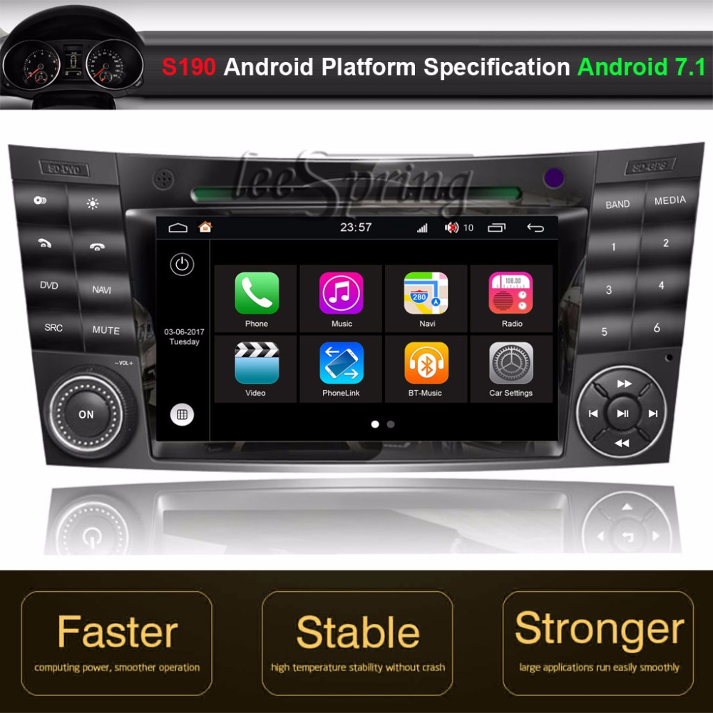 Android 7.1 Car DVD GPS Player for Mercedes-Benz W211 2002-2008