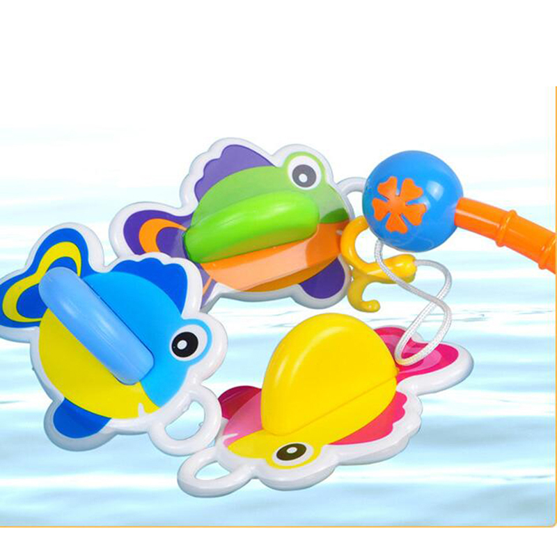 Baby Water Toys Swimming Cartoon Animal Bath Early Education Toys For Baby Shower Fishing Games Play Popular Toy