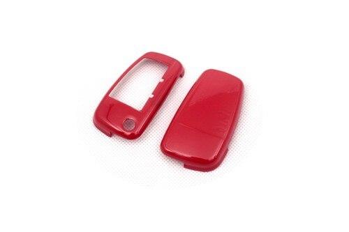 Жесткий пластиковый БЕСКЛЮЧЕВОЙ дистанционный ключ защитный кожух(глянцевый красный) для Audi