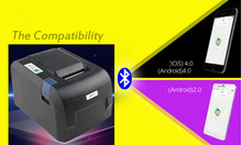 2016 new POS58IV 58mm thermal printer takeaway Bluetooth printer Andrews Phone wireless Bluetooth (Andrews) + USB