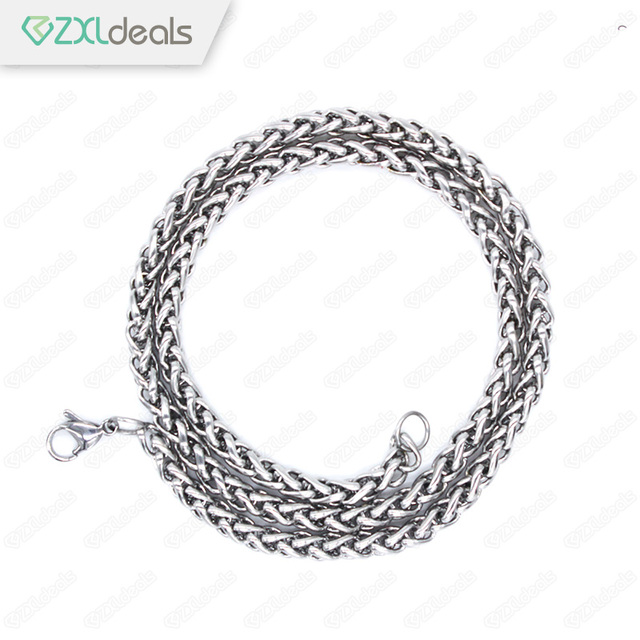 Silver/Gold/Black Necklace Cool Link Thin Chain Genuine Solid Titanium Steel Men's Fashion Jewelry Alloy