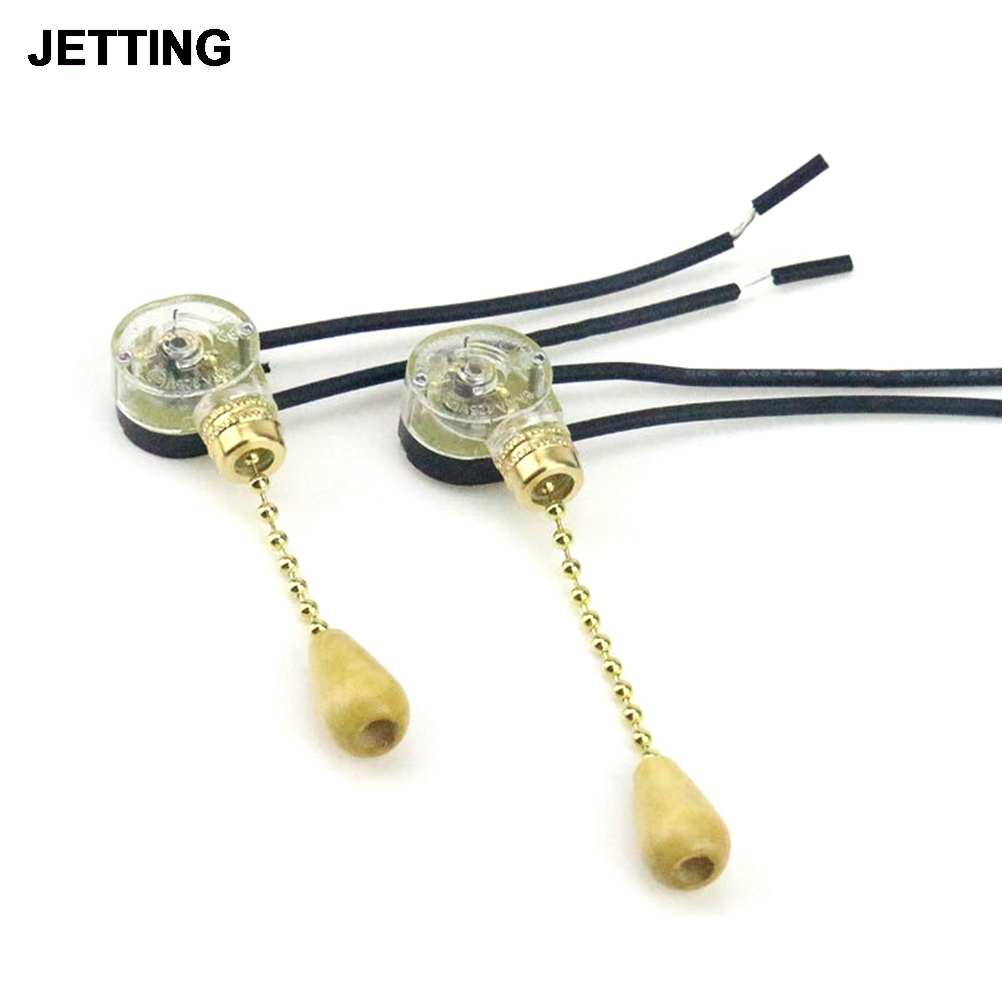 1Set Replacement Pull Cord Chain Switch Control Pull Cord Switch For Light Universal Ceiling Fan Wall Light Bedside Lamp