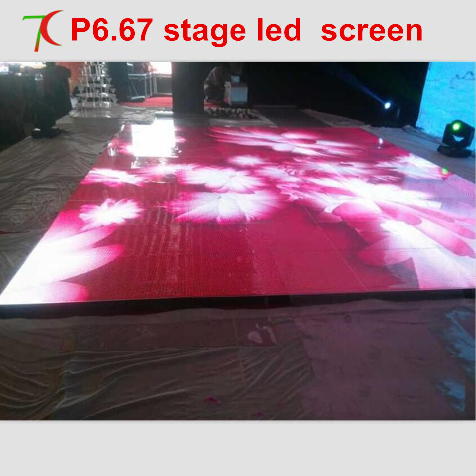 Watch P6.67 Full Color 640*640mm Led Stage Screen For Dancing,HOT SALE Dancing Custom Made  Led Dance Floor LED Display Scree