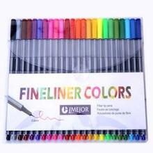 0,4 мм 24 Цвета Fineliner ручки Marco Super Fine рисовать (не Stabilo Point 88) маркер на водной основе Ассорти чернил нет-Токе Материал