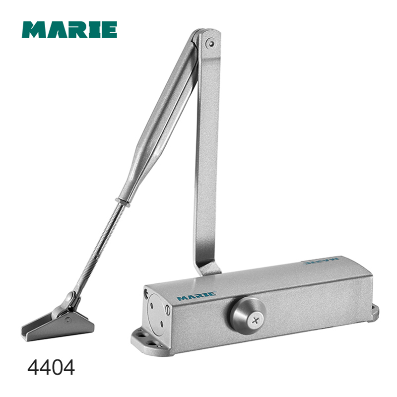 Silver Color Casting Aluminum Smooth Automatic Door Hydraulic Door Closer For 60-85kg