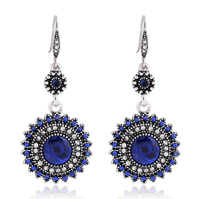 Bohemian Earrings Long Drop Earings For Women2018 Antique Style 1pc bohemian style colorful butterfly earrings