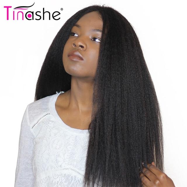 Tinashe Kinky Straight Hair Natural Color Brazilian Hair Weave