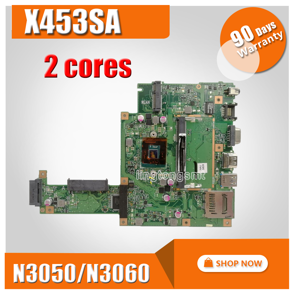 X453SA Laptop Motherboard For ASUS X453S X453SA X453 F453S Mainboard  test 100% OK N3050/N3060  2 coresX453SA Laptop Motherboard For ASUS X453S X453SA X453 F453S Mainboard  test 100% OK N3050/N3060  2 cores