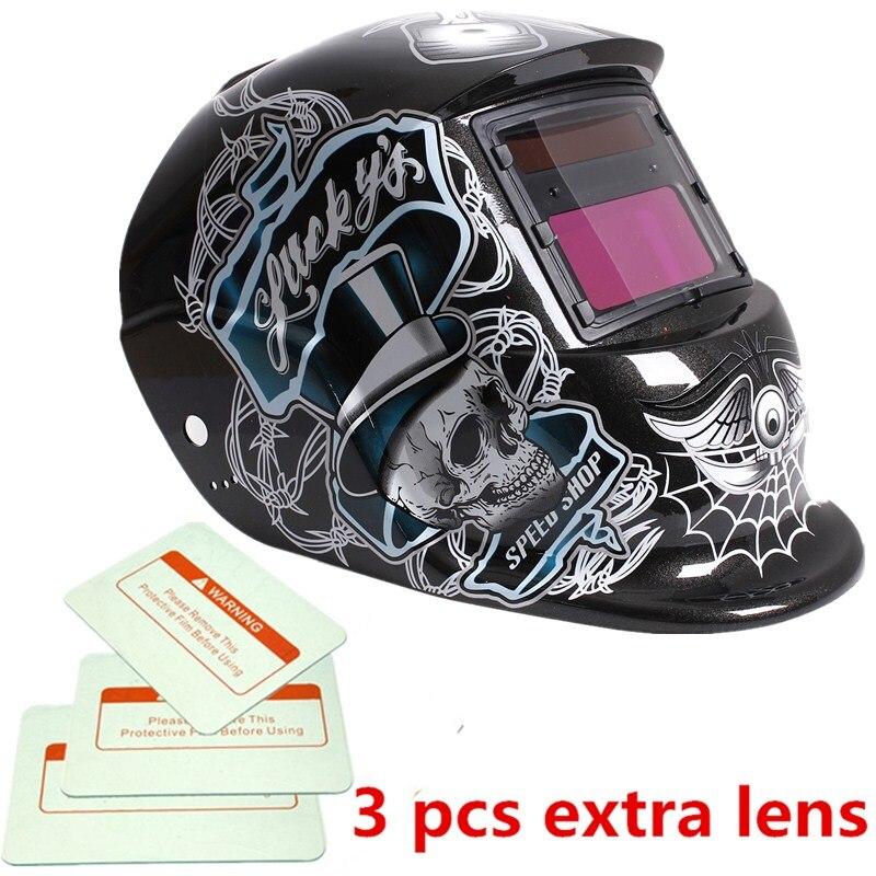 Hot Durable Solar Auto Darkening Welding Helmet ARC TIG MIG Weld For Welder Lens Grinding Mask High Quality cnim hot auto darkening welding helmet