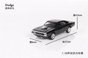 Image 4 - 1/32 Diecasts & Toy Vehicles the fast and the Furious Dodge Car Модель со звуком и светильник, коллекция, Автомобильные Игрушки для мальчиков, подарок для детей