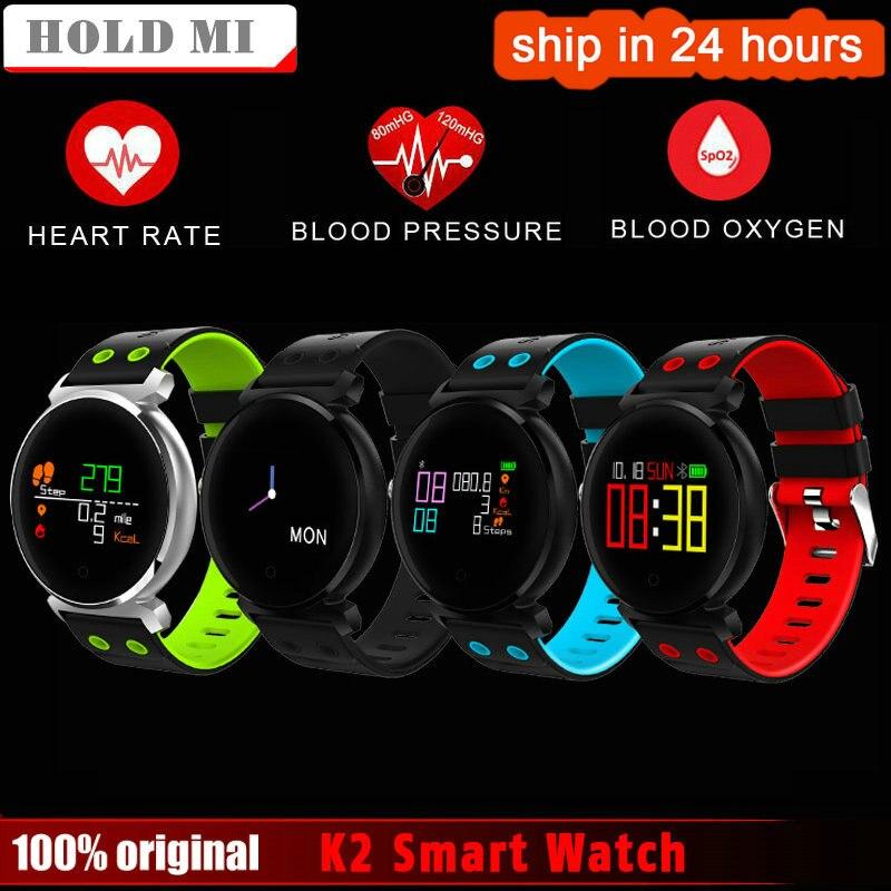 Halten Mi K2 Smart Armband Uhr Blutdruck Herz Rate Monitor Blut sauerstoff erkennung Wasserdichte Smart Band