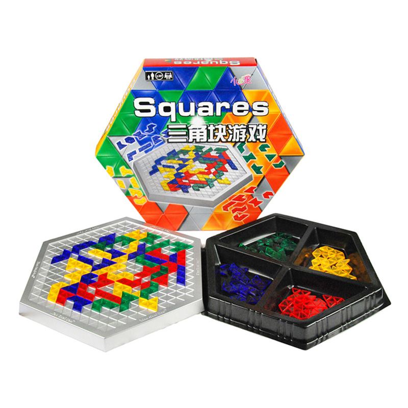 Blokus Hexagonal Version Board Game Educational Toys 486 Squares Game Easy To Play For Children Russian Box Series children s game desk puzzle solid wood toys to play the game table