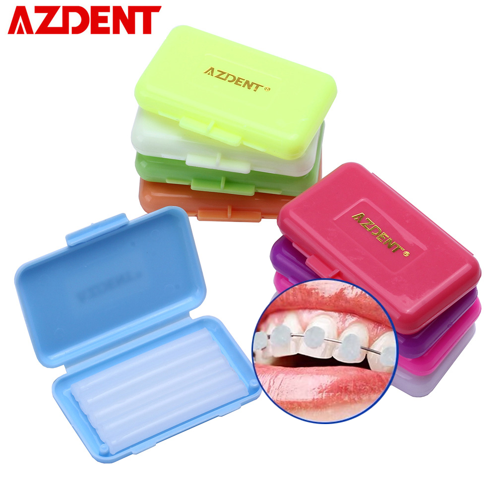 9 Box/Pack Braces Gum Irritation Strawberry Apple Orange Mint Grape Teeth Whitening Oral Hygiene Dental Orthodontics Wax