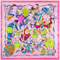 90cm * 90cm new scarf H letter fashion accessories bags ladies scarf generous towel