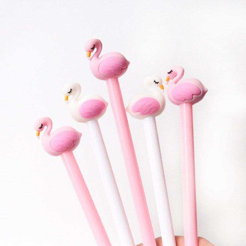 2-pcs-lote-05mm-flamingo-swan-criativo-gel-pen-assinatura-caneta-escolar-papelaria-escola-material-de-escritorio-papelaria-presente-relativo-A-promocao