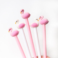 2 pcs/lot 0.5mm Creative Flamingo Swan Gel Pen Signature Pen Escolar Papelaria School Office stationery Supply Promotional Gift [category]