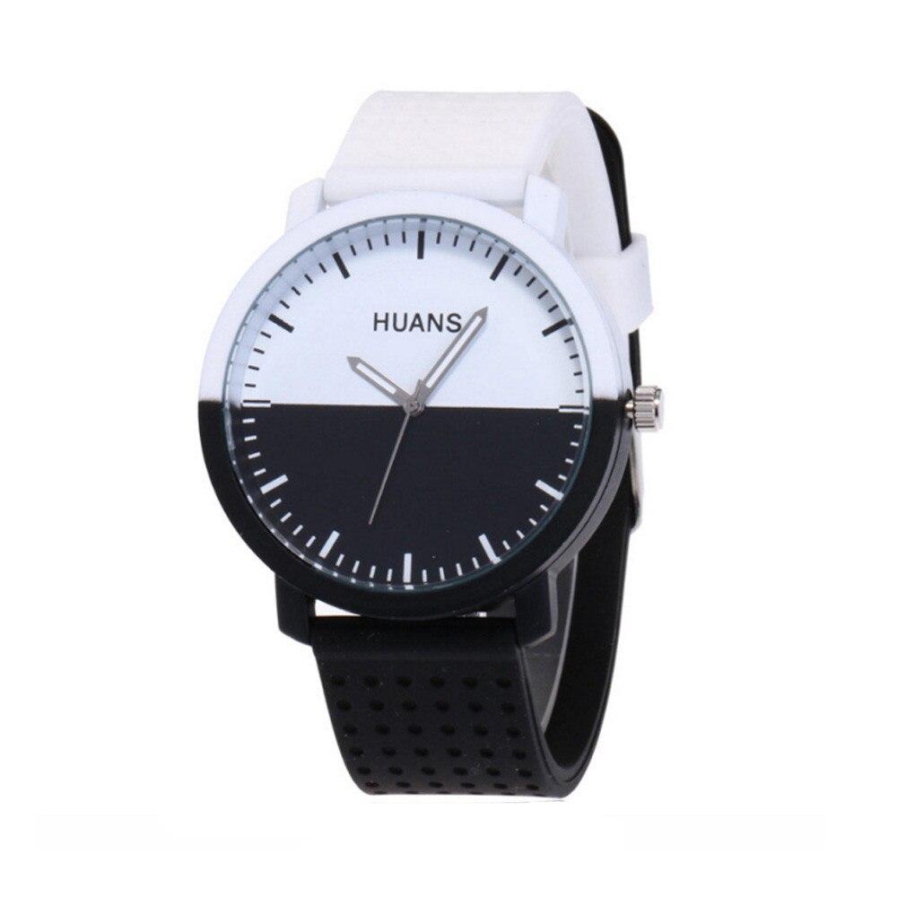 Fashion Casual Women Men Watches Personality Circular Dial Silica Gel Quartz Lovers Wrist Watch Relogio Masculino Saat Gift 2018