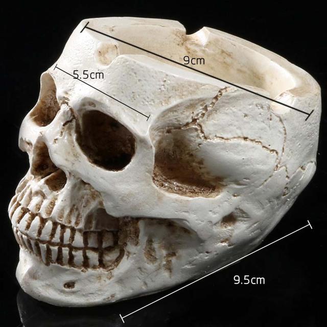 1 Unidades Cráneo Cenicero Adornos Juguetes Adultos Resina Hogar Aparatos Divertido de La Novedad de Juguetes de Decoración de Halloween Cráneo de La Personalidad