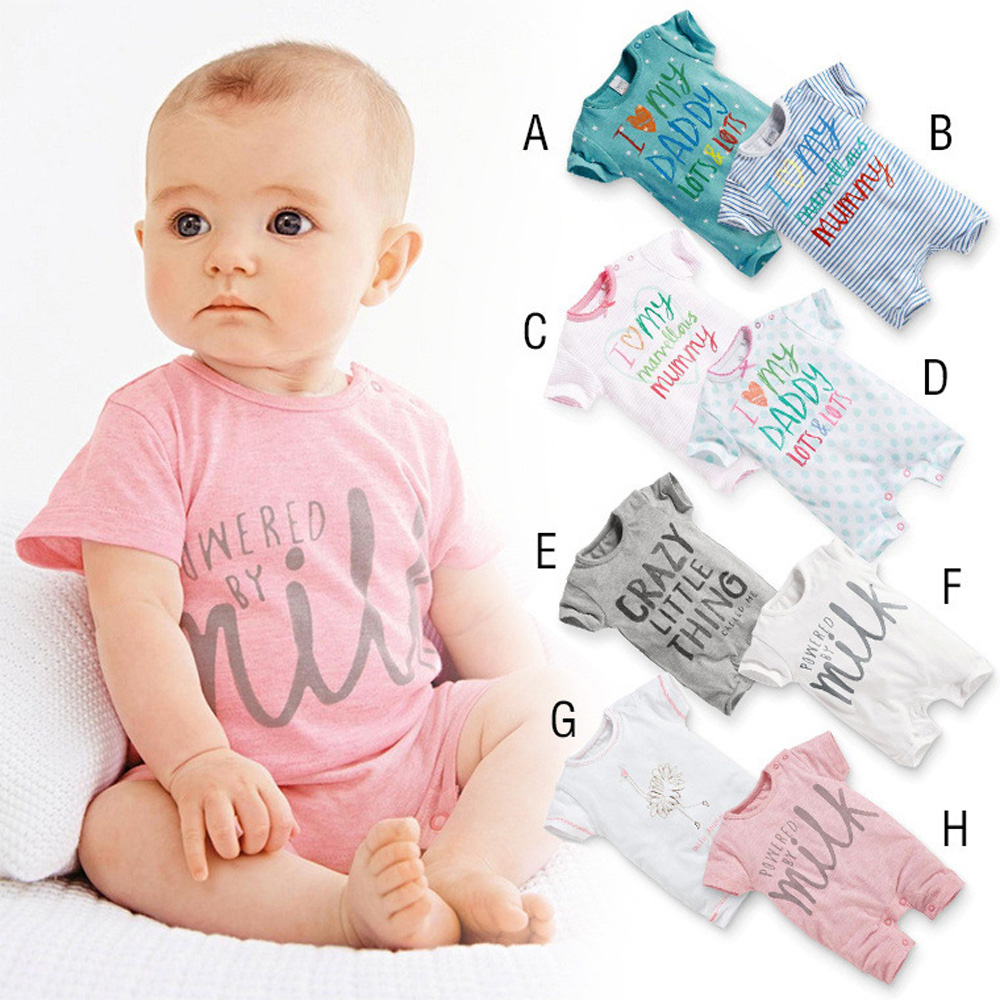 2016 Summer New Newborn Infant Baby Boys Girls Romper Clothes Short Sleeve Lovely Cotton Romper