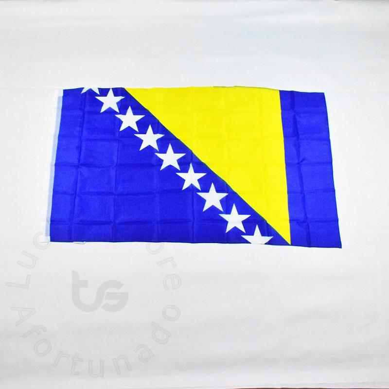 Bosna a Hercegovina Vlajka 90 * 150 cm Banner Doprava zdarma Závěsná státní vlajka pro setkávání, Parade, party.Hanging, dekorace
