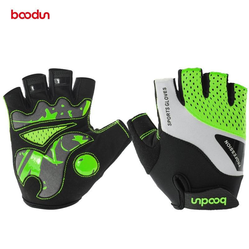Boodun Unisex Cycling font b Gloves b font High Quality High elastic Lycra fabric Anti slip