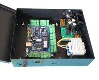 Wiegand контроллер, tcp ip четыре двери контроллер доступа с случае мощность, suport нескольких функции доступа, пожарной сигнализации и т. д. sn: B04 set