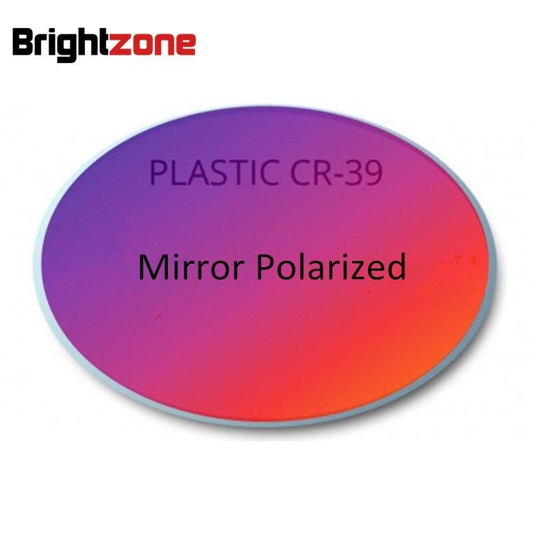 Brightzone 1 56 index CR 39 Mirrored Multi colors Polarized Myopia Astigmatsim Sunglasses Eyeglasses Glasses Prescription